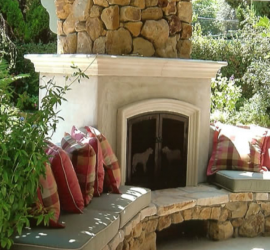 Patio Fireplace by Milestone Building Services Inc.